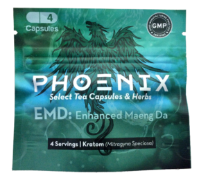 Phoenix EMD kratom capsules